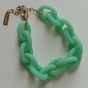 Baublebar mint green chain bracelet